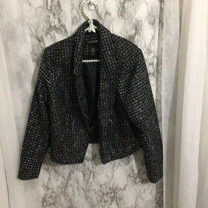Women's Plus Size Blazer Jacket Sparkle Tweed